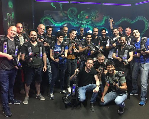 Gimmonix family at laser tag